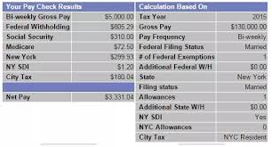 Paycheck Calculator New York If You Make 130 000 Year In Nyc What Is Your Take Home Bi