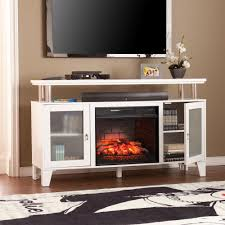 w infrared media electric fireplace in white