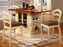 Small Dining Table With Storage Kitchen Drawers Counter Height Base