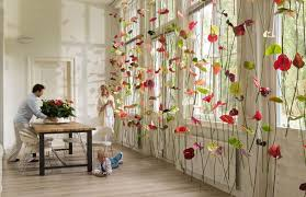 with artificial flowers