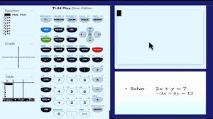 solving systems of linear equations using matrices on a graphing calculator
