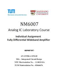 Ntu Tum Ic Design Pdf Design Of Fully Differential Wideband Amplifier