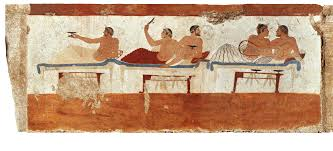 Resultado de imagen de banquete funerario Paestum