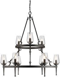 golden lighting chandelier. Golden Lighting 1208-9-DNI Marcellis Dark Natural Iron Chandelier. Loading Zoom Chandelier