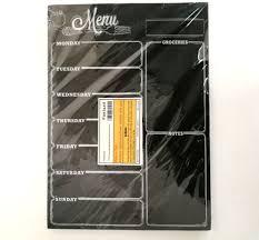Chalkboard Kitchen Magnetic Refrigerator Chalkboard Weekly Menu Meal Planner