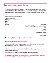 Letters Of Complaint Free 8 Sample Complaint Letters In Pdf Word