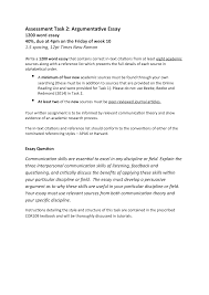 Task 2 Essay Task Description 21 2 2019 Cor109