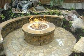 natural gas outdoor fire pits metal pit cover round