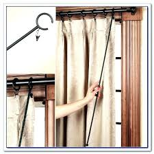 double rod curtain ideas wrap around curtains home design depot