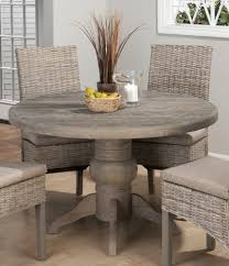whitewashed round dining table dining tables