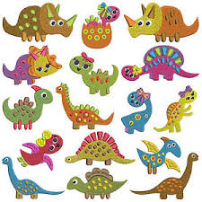 Machine Embroidery Patterns Custom TINY DINOSAURS Machine Embroidery Patterns 48 Designs X 48 Sizes
