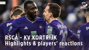 RSC Anderlecht - RSCA - KV Kortrijk: highlights & players' reactions