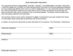 Stock Subscription Agreement - April.onthemarch.co