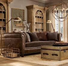 restoration hardware leather couch. Restoration Hardware Living Roomlooks Like Ours...leather Sofa, Trunk, Rug, But No Chandelier Hmmm Leather Couch