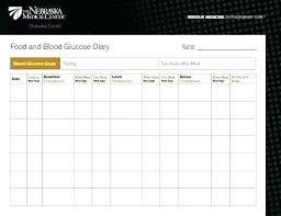 Glucose Monitoring Log Template Free Diabetic Testing Sheet