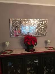 mirrored mosaic damask wall panel