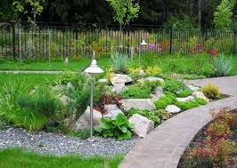 Outdoor Living:Backyard Rock Garden Design Rock Garden Design Modern  Backyard Garden Idea