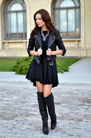 all black outfits with leather jacket 2019