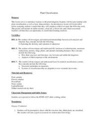 Plant Kingdom Classification Chart For Kids Plant Kingdom Lesson Plans Worksheets Reviewed By Teachers