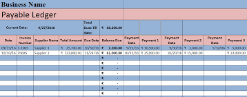 Sample Accounting Ledger Download Accounts Payable Excel Template Exceldatapro