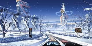 Winter Snow Scenic Mirai Millenium Culture Japan 1600x800