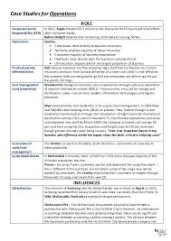 Case Study Template For Business Studies Operations Doniw