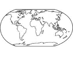World Map For Education Coloring Page Download Print Online