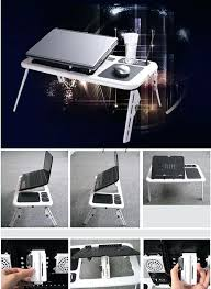 lap desk with light and cup holder cozy work station is very good for holding laptops