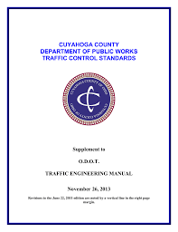 Odot Traffic Control Plans Design Manual Traffic Control Standards Supplement To The Odot Traffic