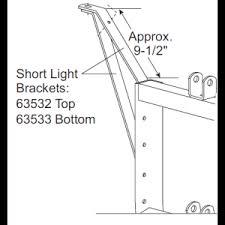 26347 26377 western fisher blizzard 11 pin plow side light 63532 63533 western unimount short light brackets plow headlights top and bottom