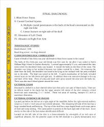 Simple Report Template Autopsy Report Template 5 Free Word Pdf Documents Download Free
