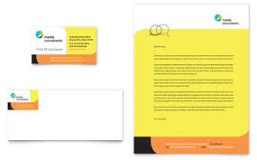 Microsoft Business Cards Templates Social Media Consultant Business Card Letterhead Template