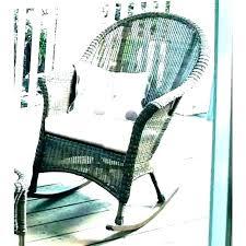 s black outdoor rocker chair pads