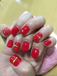 夏ネイル赤ネイルシンプルネイル ネイル Nails Beauty
