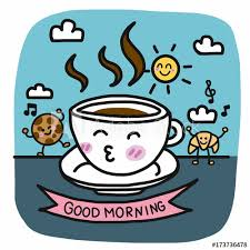 good morning coffee friend. Brilliant Friend Good Morning Coffee Cup And Breakfast Friend Cartoon Vector Illustration  Doodle Style And Morning Coffee Friend R