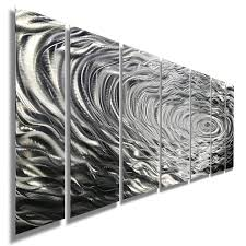 silver metal wall art find modern abstract get quotations large water inspired contemporary decor sculpture ripple