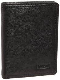 Black Leather Designer Wallet Fossil Midway Black Leather Sup Cap Bifold Wallet Fossil