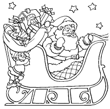 Small Picture Santa Christmas Easy Coloring Pages Printable Christmas Coloring