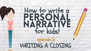 Chart Narrative Examples Writing A Personal Narrative Writing A Closing Or Conclusion For Kids