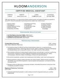 Certified Medical Assistant Resume Adorable Certified Medical Assistant Resume New Certified Medical Assistant