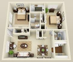 Incredible Two Bedroom Apartment Design Ideas Small Home Plans And Interesting Home Interior Designs