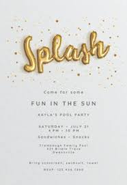 Pool Party Invitation Templates (Free) | Greetings Island