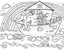 Bible Coloring Pages Noahs Ark Coloringstar