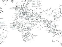 World Map Coloring Page With Countries World Map Coloring Pages