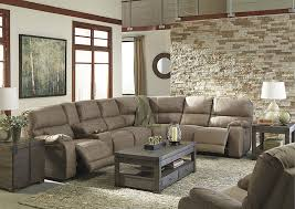 living room mattress: bohannon taupe left facing sectional w right facing power reclining loveseat and rocker recliner