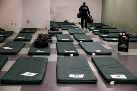 Cold Weather Homeless Shelters Open As Temperatures Drop