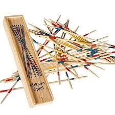 Game With Wooden Sticks 100 SETS Of New Wood Pick Up Sticks With Wooden Box PickUp Mikado 93