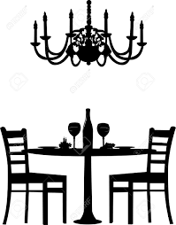 dinner table clipart black and white. pin table clipart romantic dinner #15 black and white