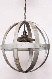globe chandelier wine barrel furniture