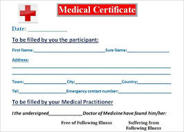 Sickness Certificate Format 30 Medical Certificate Template Free Word Pdf Documents